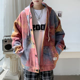 Privathinker Tie-dyed Korean Style Men Hoodies 2020 Autumn Fashion Men's Hooded Outerwear New Colorful Male Sweatshirts Clothing