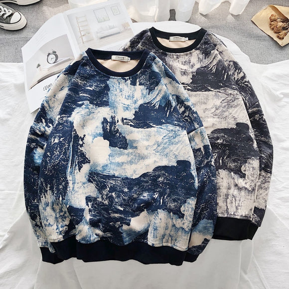 Privathinker Men's Casual Oversize Vintage Printed Sweatshirts Women's Fashion Chinese Style Hoodies Male Fashion Clothing