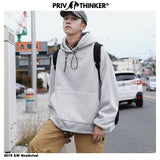 Privathinker Men Woman Autumn Colorful Solid Loose Street-Style Sweatshirts 2020 Mens Harajuku Hat Hoodies Male Sweatshirts 5XL
