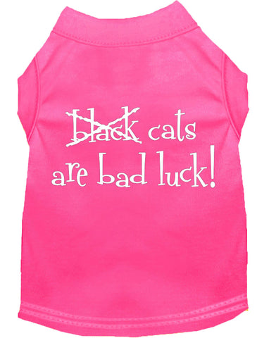Black Cats are Bad Luck Dog Shirt