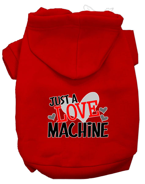 I Love Machine Dog Hoodie