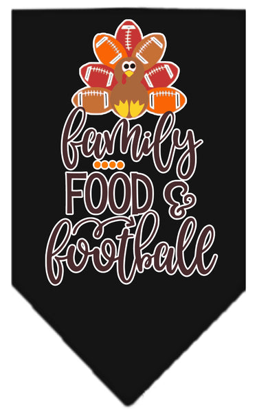 Family Food Football Dog Bandana