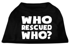 Who Rescued Dog Shirt