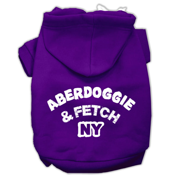 Aberdoggie and Fetch NY Dog Hoodie