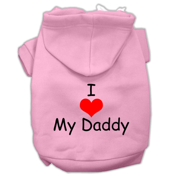 I Love My Daddy Dog Hoodie