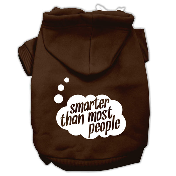 Smarter Than Most People Dog Hoodie