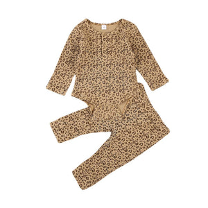 Leopard Pullover Top+Long Pant