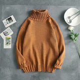 Men Sweaters Basic Solid Leisure Simple All-match Korean Coat Sweater Mens Winter Soft Knitting Warm Pullover Unisex Multicolor