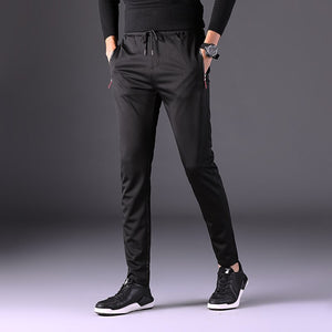 Pants Men Fashion Autumn Full Length Drawstring Pockets Plus Size Pencil Pant Mens Trends Slim Korean Style All-match Trouser