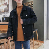 Jackets Men Denim All-match Loose Korean Style Streetwear Ulzzang Mens Large Size High Quality Coats Leisure Clothing Simple New