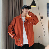 Jacket Men Casual Loose Letter Korean Fashion Clothes Mens Jackets and Coats Simple Plus Size Males Hot Sale Daily All Match