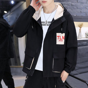 Jacket Men Zipper Plus Size Fashions Harajuku Tops Long Sleeve Mens Jackets and Coats Males Hot Sale Black Coat Hip Hop Clothes