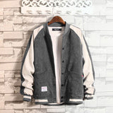 Men Jackets Patchwork Corduroy Chic Trendy Stand Collar Leisure Daily Outwear Korean Style Harajuku Mens Student High Quality