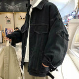 Men Jackets Denim Solid Summer Korean Style Pockets Holes 3XL Oversize High Quality Mens Teens Streetwear Chic Ulzzang Harajuku