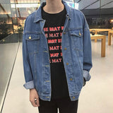 Jacket Men Plus Size 3xl Korean Hot New Trendy Streetwear Mens Jackets and Coats Boyfriend Students Black Coat Vintage Denim