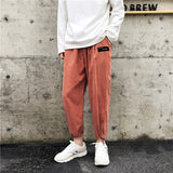 Harem Pants Men Solid Loose Casual Ulzzang All Match Mens Korean Style Plus Size Sweatpants Hot Sale Males Simple Trousers Soft