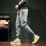 Pants Men Casual Plus Size Korean Style New Trendy All Match Mens Sweatpants Hip Hop Solid Simple Males Trousers Harajuku Soft