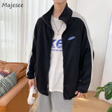 Winter Clothes Men Jacket Plus Size Casual Loose Harajuku Simple Mens Jackets and Coats Black Long Coat Streetwear Thicker Warm