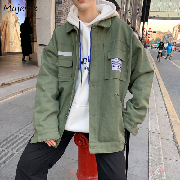 Jacket Men Large Size All Match Korean Style Top Quality Mens Jackets and Coats Streetwear Males Hot Sale Clothes Black Coat