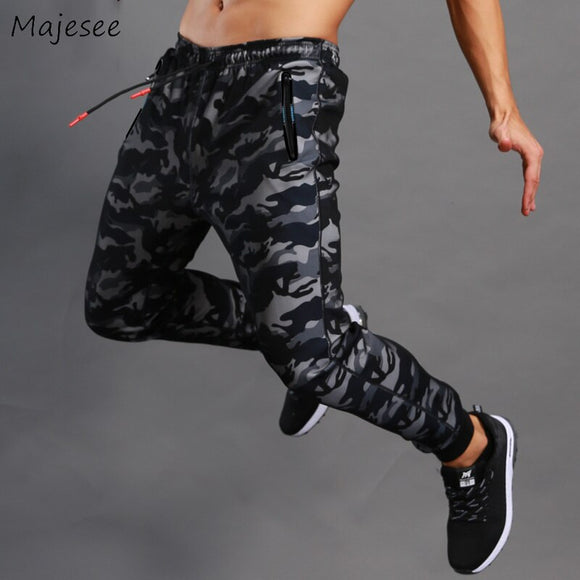 Pants Men Full Length Loose Camouflage Street Fashion Fitness Clothing Pencil Pant Mens European Style All-match Trousers Chic