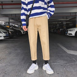 Pants Men 2020 Pockets Leisure Simple All-match Korean Style Ulzzang Loose Cargo Pant Mens Harajuku Students Daily Trousers Chic
