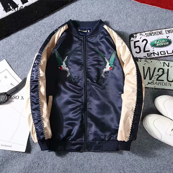 Jackets Men Embroidery Pockets Leisure Loose Patchwork Hip Hop Jacket Mens Zipper Korean Style Ulzzang Students Chic Overcoats