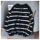 Pullovers Men Autumn Striped O-neck Simple All-match Korean Style Harajuku Ins Leisure Loose Sweaters Couple Knitted Ulzzang New