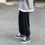 Men Casual Pants Plus Size 3XL Loose Solid Simple Oversize Harem Pant Mens Harajuku Hip-hop Streetwear Drawstring Thickening New