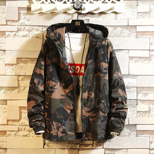 Jacket Men Streetwear Big Size Windproof High Fashion Mens Coats and Jackets Autumn Clothes Hooded Zipper All Match Loose Chic