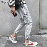 Pants Men Autumn Ankle-length Pockets Street Fashion Cargo Pant Mens Harajuku Korean Style Hip Hop Trends Ulzzang Chic Trousers
