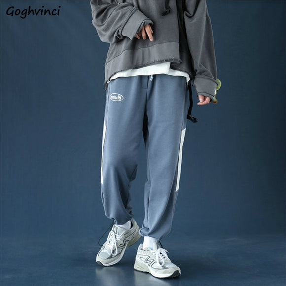 Men Casual Pants Letter Embroidery Patchwork Casual Adjustable Loose Streetwear Hip-hop Mens Harem Pant Harajuku Trousers Trendy