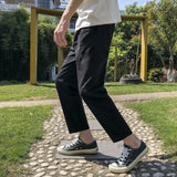 Pants Men Sweatpants Straight Ankle-Length Big Size All Match Loose Korean Streetwear Mens High Waist Trousers Ulzzang Hot Sale