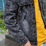 Men Jackets Letter Printed Simple Plus Size 3XL Oversize Retro Ulzzang All-match Mens Korean Style Harajuku Holes Streetwear New