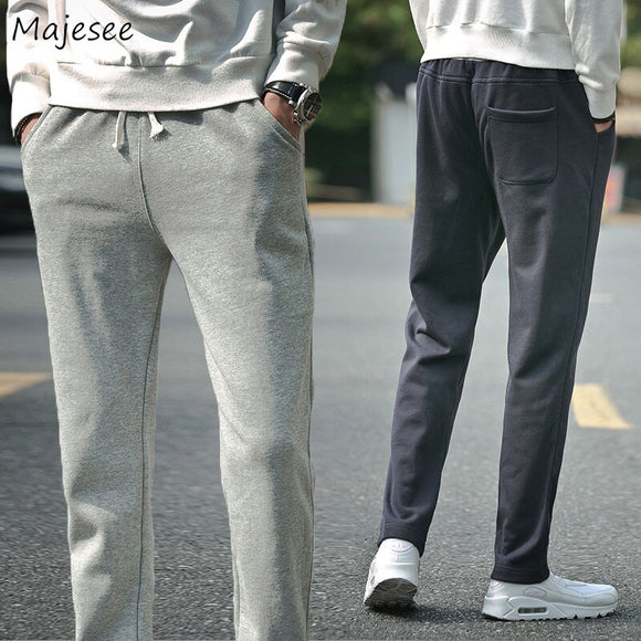 Pants Plus Size Thin Full Length Drawstring Loose Pockets Leisure Sweatpants Ulzzang Mens High Waist Fall Fashion Casual Chic