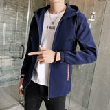 Jacket Men Casual Zipper All Match Plus Size Mens Jackets and Coats Korean Style New Trendy Harajuku Clothes High Quality Soft