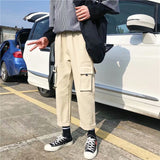 Cargo Pants Men Streetwear Plus Size Drawstring Leisure Loose Pockets Mens Korean Fashion Harajuku Sweatpants Street Style Soft