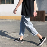 Pants Men Casual Autumn Straight Pant Simple Solid Plus Size 2XL Slim BF Harajuku Mens All-match Korean Trendy Streetwear Retro