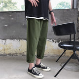 Sweatpants Men Plus Size Solid Simple All Match Leisure Novelty Mens Pants Fashion Korean Streetwear Males Harajuku Trousers