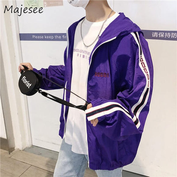 Men Long Sleeve Jackets Mens Hooded Pockets Jacket Sun Protection Clothing Male Fashion Coats Students Casual Loose Coat Korean