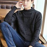 Sweaters Pullovers Men Solid Thickening Fashion Loose 3XL Chic Korean Style All-match Winter Autumn Knitting Teens Simple Casual