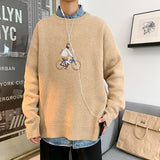 Sweaters Men Pullovers Thick Autumn Winter Embroidery Fashion Simple Lazy-style All-match Korean Teens Stylish Mens Sweater Chic