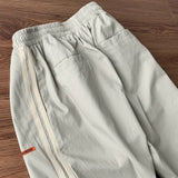 Casual Pants Men Summer Loose Straight Trousers Patchwork Ankle-length Breathable Mens Large Size 3XL Chic Korean Style Ulzzang