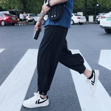 Summer Casual Pants Men Ankle-length Harem Trousers Leisure Chic Button Fly Large Size 3XL Loose Mens Korean Style Harajuku New