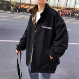 Jackets Men Jacket Casual Long Sleeve Plus Size Clothes Mens Korean Style Chic All Match Males Harajuku Coat Comfortable Retro