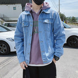 Men Jackets Loose Turn-down Collar Loose Large Size 3XL Oversize Chic Teens Fashionable Harajuku Korean Style New Daily Outwear