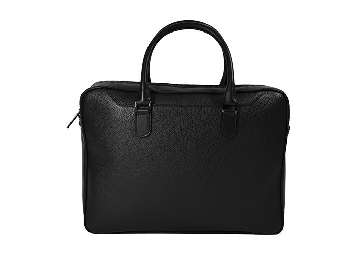 Man Business Leather Bag 1 Zip 1002