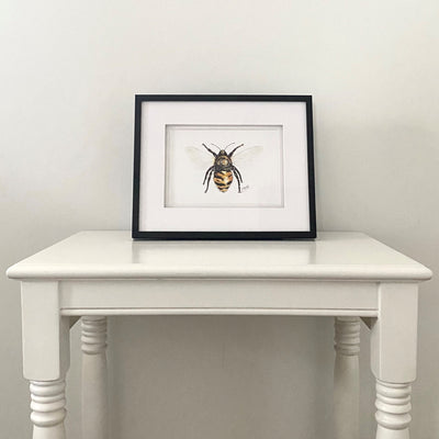Bee Watercolour Print Small - French Quarter