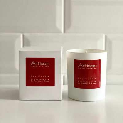 Frankincense & Perisan Rose Artisan Soy Wax Candle - French Quarter