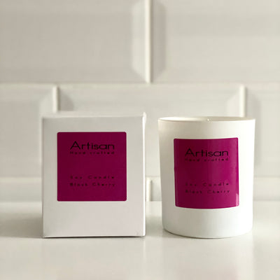 Black Cherry Artisan Soy Wax Candle - French Quarter