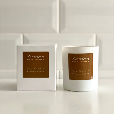 Cappuccino Artisan Soy Wax Candle - French Quarter
